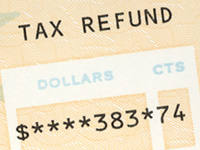 Closeup Photo of Tax Refund Check